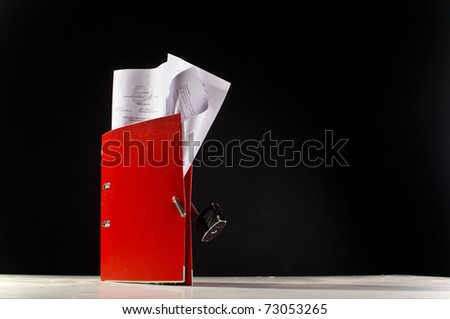 open folder with files - stock photo