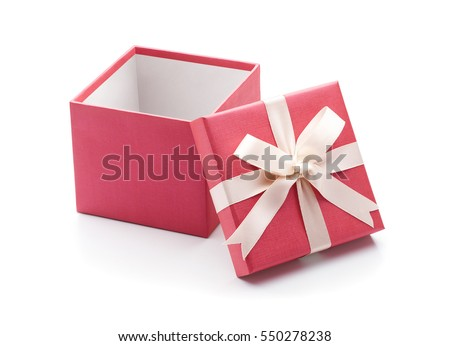 Open gift box isolated on white background - Clipping path included