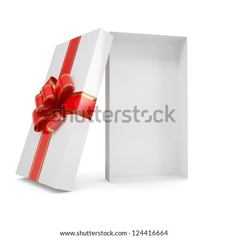 Open gift box. Isolated render on a white background - stock photo
