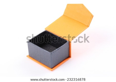 Open Gift box on white background