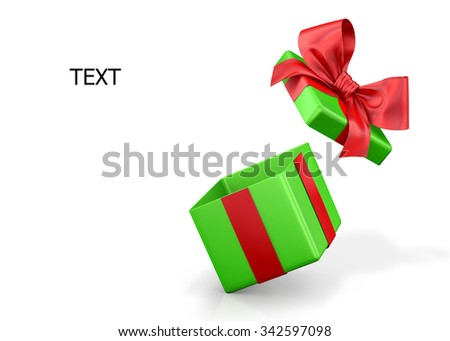 open gift box over white background 3d illustration - stock photo