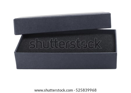 Open Gift with Protective Sponge on White Background