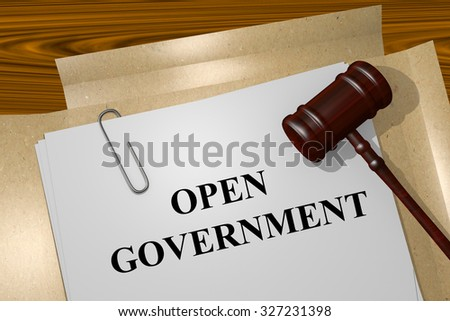Open Government Title On Legal Documents - stock photo