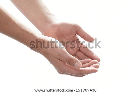 Open hand.  - stock photo