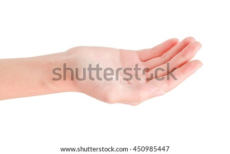 open hand isolated