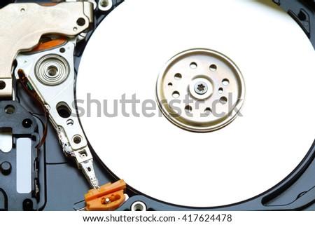 Open hard drive. Close-up - stock photo