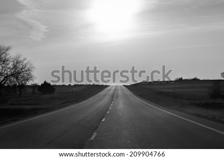 Open Highway in Black and white