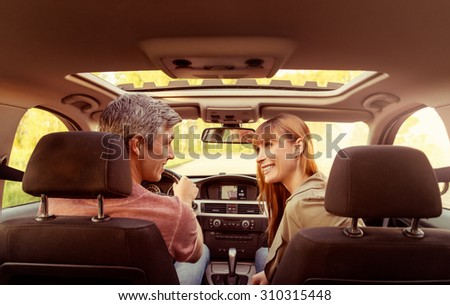 open highway travel to the sun - stock photo
