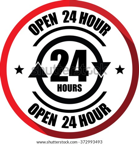 Open 24 Hours Stock Images, Royalty-Free Images & Vectors | Shutterstock