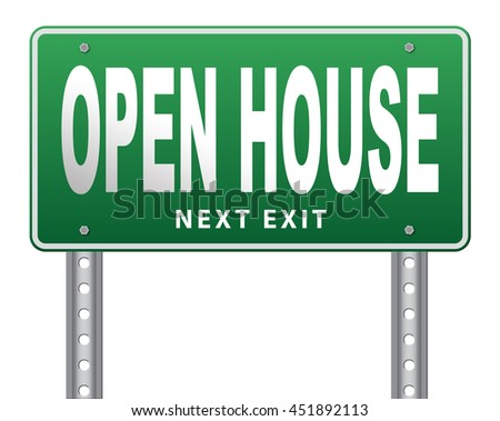 Open house or model house viewing before sale or renting a new home 3D illustration, isolated, on white