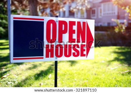 open house sign - stock photo