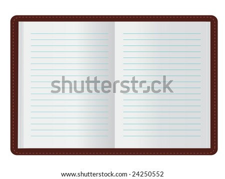 Open Journal (JPG and Vector versions of this file both available in my portfolio) - stock photo