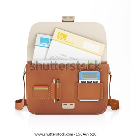 Open Briefcase Icon Open Leather Briefcase And a