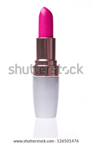 open lipstick isolated on white background