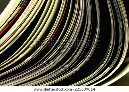 open magazines, close up shooting - stock photo