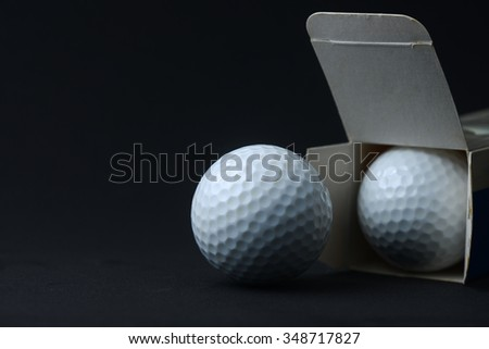 open new golf ball from box
