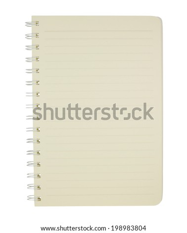 Open new notebook  isolated on white