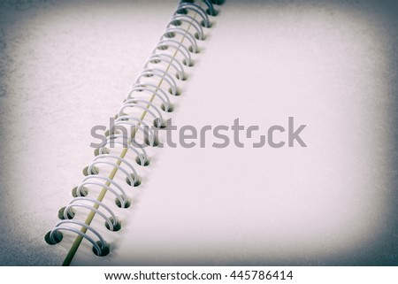 Open notebook ,blank notepad with empty white pages