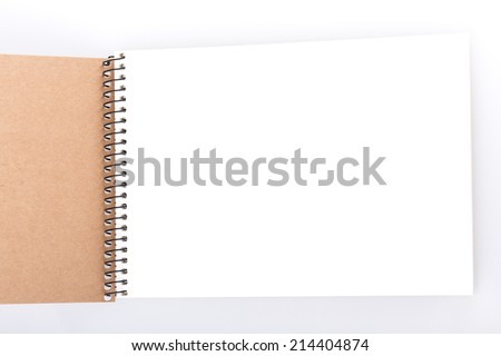 open notepad white paper sheet - stock photo