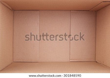 open packing box isolated on white - stock photo
