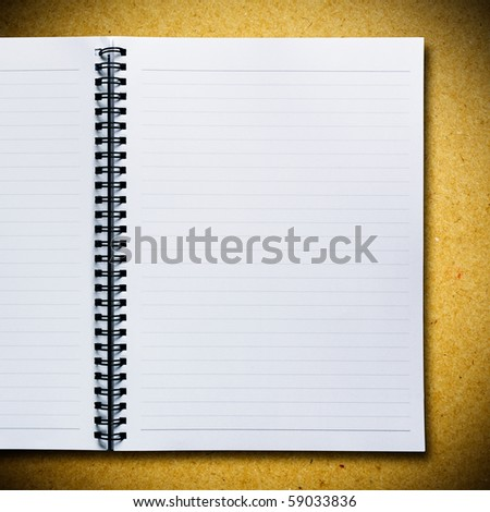 Open 2 pages notepad