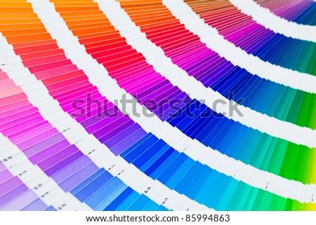 open pantone color guide sampler