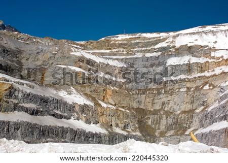 Open Pit Copper Mine in Chile - stock photo