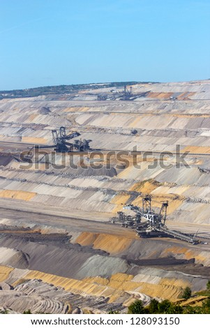 Open pit mine in Germany - stock photo