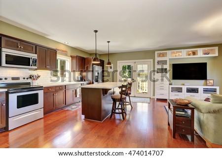 Wondrous Open Plan Kitchen Stock Images Royalty Free Images Vectors Inspirational Interior Design Netriciaus