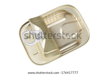 Open Sardine Can with a Clipping Path for the Background