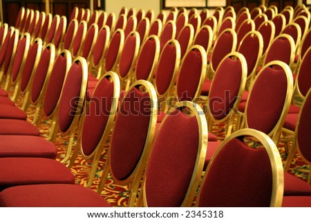 Open Seating at an Auditorium Concert Event - stock photo