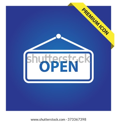 Open sign icon