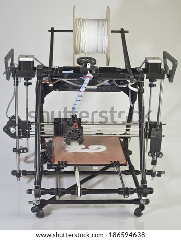 Open Source 3d Printer Prototype - stock photo