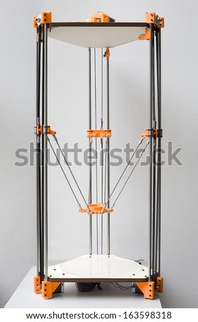 Open Source Delta 3D Printer Assembly - stock photo