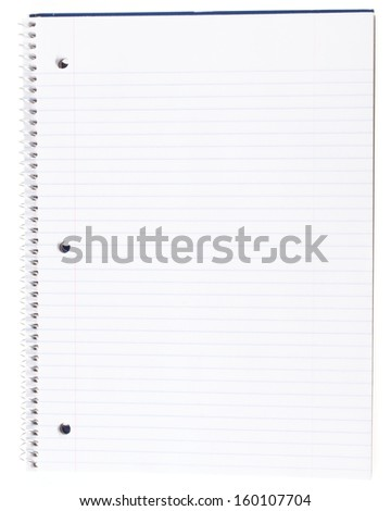 Open Spiral Notebook with a Blank Page - stock photo