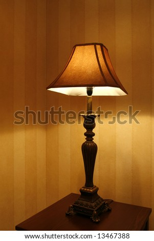 open standing lamp in living room