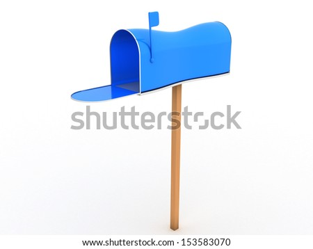 Open the mailbox on a white background #4 - stock photo
