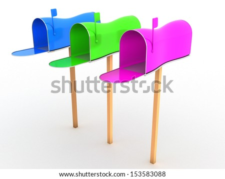 Open the mailbox on a white background #5 - stock photo