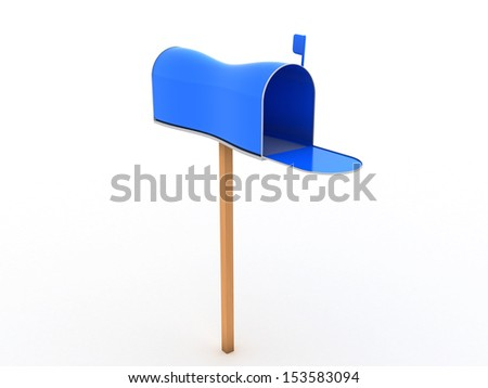 Open the mailbox on a white background #3 - stock photo