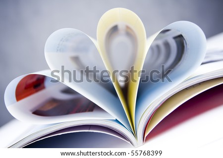 Open the petals form the shape of the magazine - stock photo