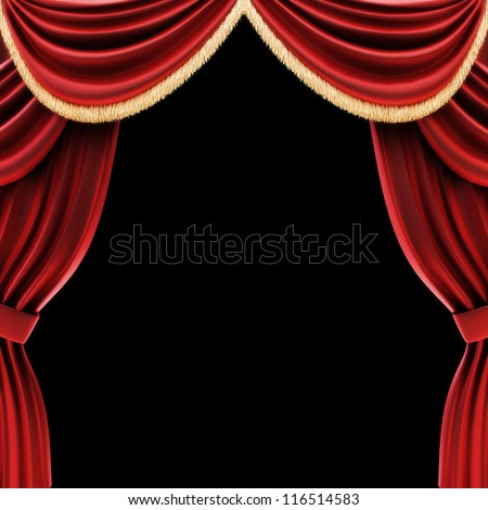 Curtains Ideas black theater curtains : Open Theater Drapes Stage Curtains Black Stock Illustration ...