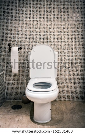 Open toilet - stock photo