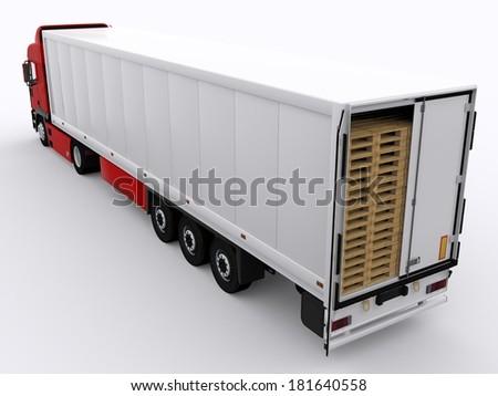 open trailer - stock photo