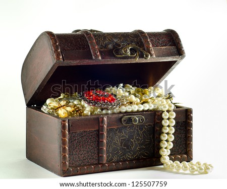 Open Treasure Chest Stock Photo 125507759 Shutterstock