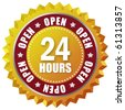 Open twenty four hour - stock photo