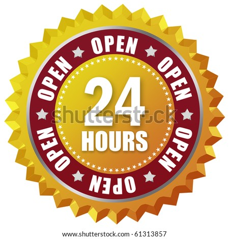 Open twenty four hour - stock photo