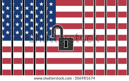 Open US Borders. Concept sign to abandon restriction in trading and migration policy - stock photo