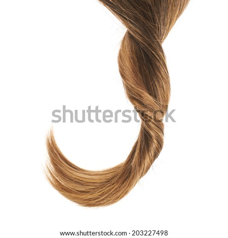 Open wave hair fragment placed over the white background as a copyspace backdrop composition - stock photo
