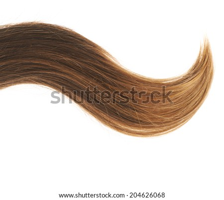 Open wave hair fragment placed over the white background as a copyspace backdrop composition