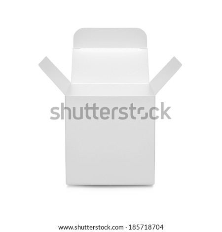 open white box - stock photo